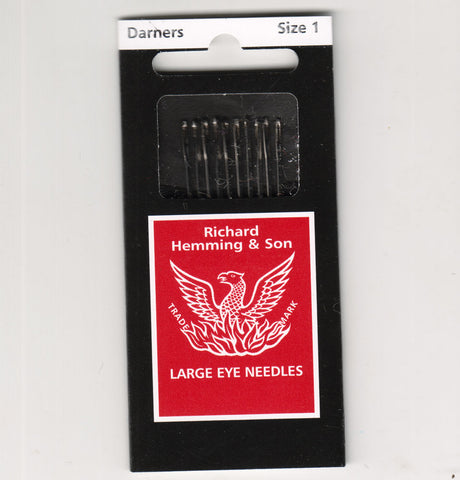 Richard Hemming Needles - Darners Size 1 - Made in England