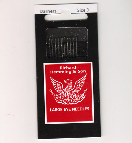 Richard Hemming Needles - Darners Size 3 - Made in England