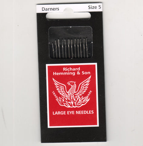 Richard Hemming Needles - Darners Size 5 - Made in England