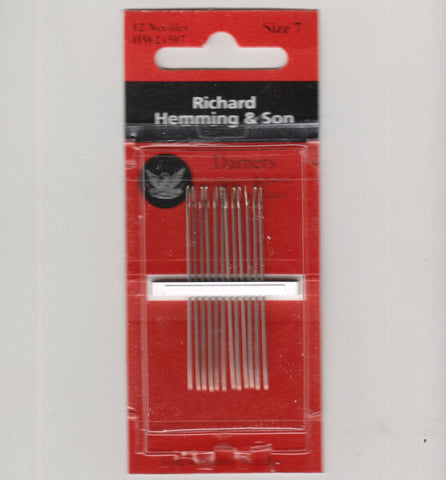 Richard Hemming Needles - Darners Size 7 - Made in England