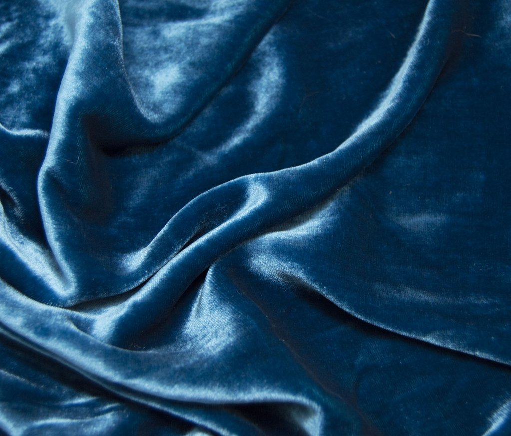 Royal Teal Blue - Silk Velvet