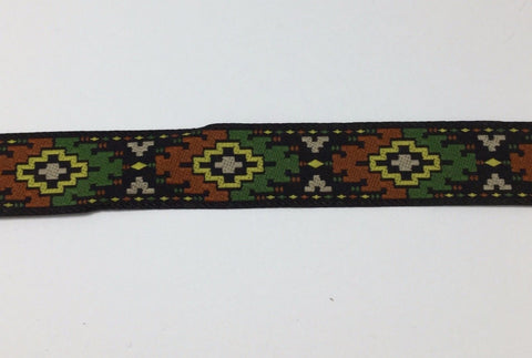 Vintage Jacquard Ribbon - Tribal Ethnic Ikat