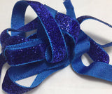 "French Lurex Metallic Velvet Ribbon (13mm/ 1/2"" wide) (9 Colors to choose from)"