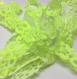 Laser Cut Velvet Trim - Neon Yellow