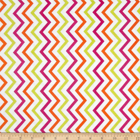 Michael Miller Mini Chic Chevron Sherbet - Cotton Quilting Fabric
