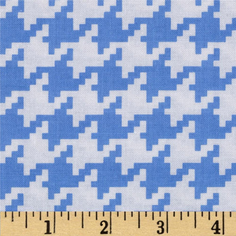 Michael Miller - Everyday Houndstooth - Boy Blue - Cotton Quilting Fabric