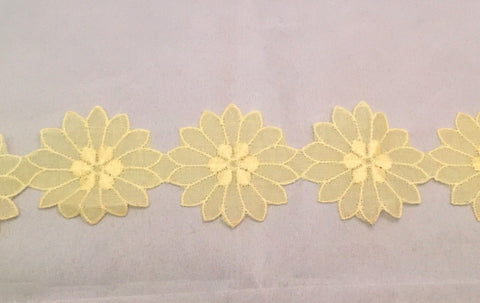 Vintage Yellow Flower Applique Trim