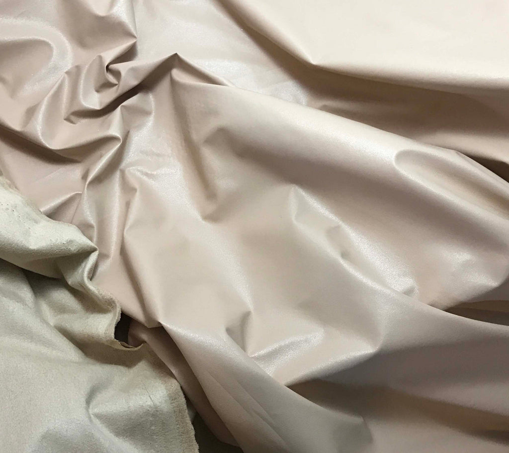 Beige - Faux Leather Fabric
