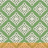 Windham - Governor's Palace Medallion Green - Cotton Quilting Fabric