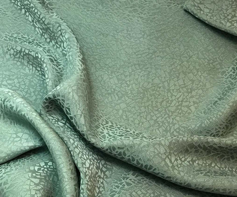 Sage Green Pebbles - Hand Dyed Silk Jacquard
