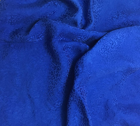 Sapphire Blue Pebbles - Hand Dyed Silk Jacquard