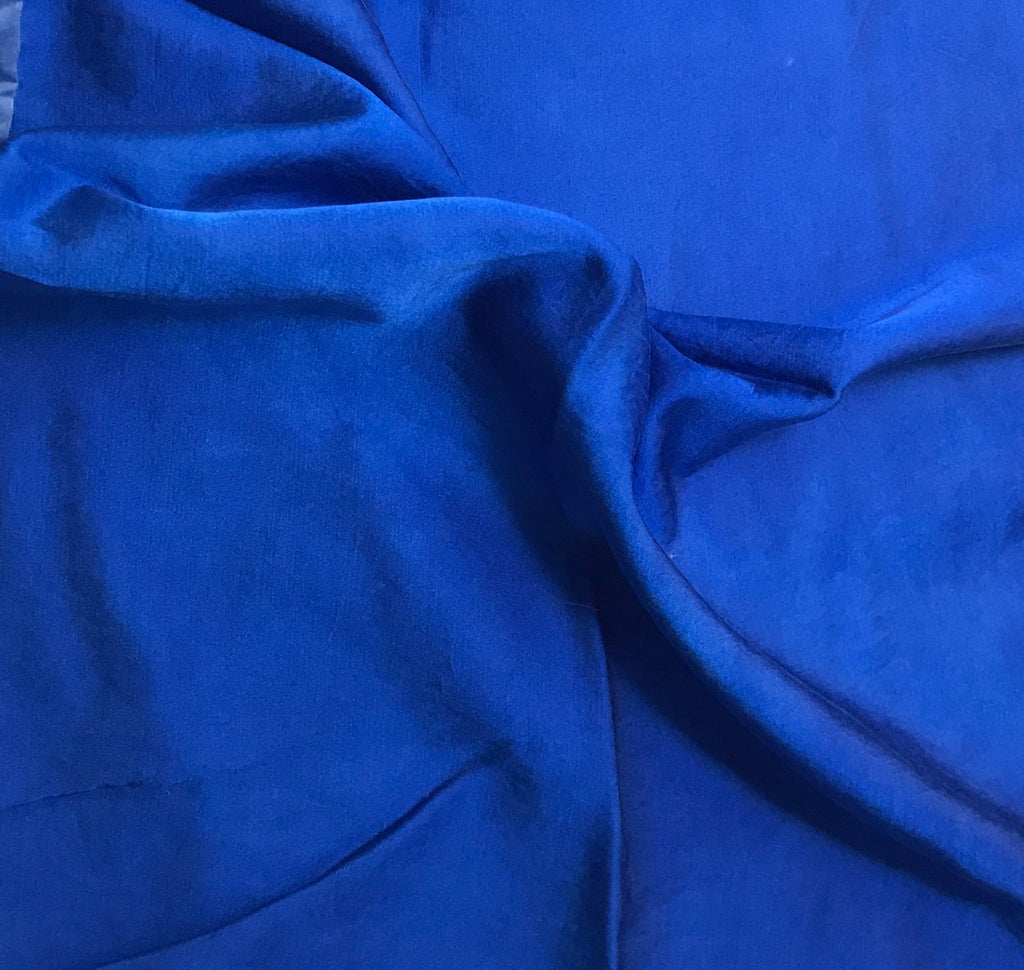 Sapphire Blue - Hand Dyed Silk/Cotton Satin