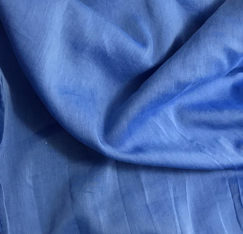 Sapphire Blue - Hand Dyed Silk/Cotton Voile
