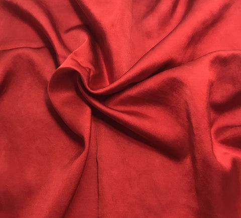 Scarlet Red - Hand Dyed Silk/Cotton Satin