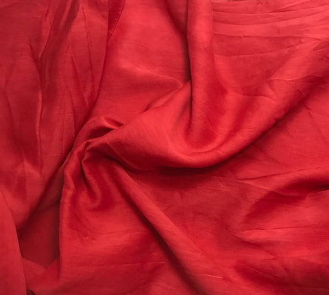 Scarlet Red - Hand Dyed Silk/Cotton Voile