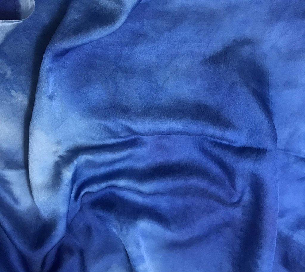 Sky Blue - Hand Dyed Silk/Cotton Sateen