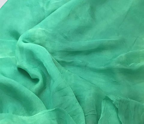 Spearmint Green - Hand Dyed Soft Silk Organza