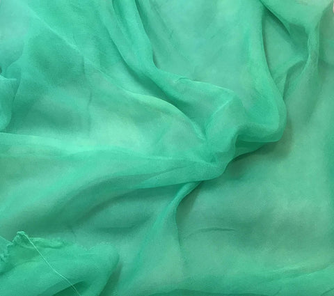 Spearmint Green - 3mm Hand Dyed Silk Gauze Chiffon