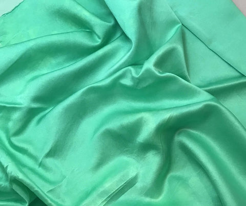 Spearmint Green - Hand Dyed Silk/Cotton Satin