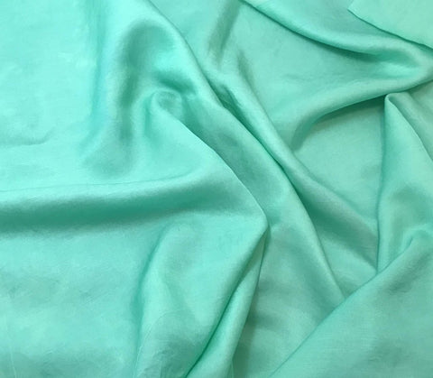 Spearmint Green - Hand Dyed Silk/Cotton Sateen