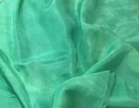 Spearmint Green - Hand Dyed Silk Habotai