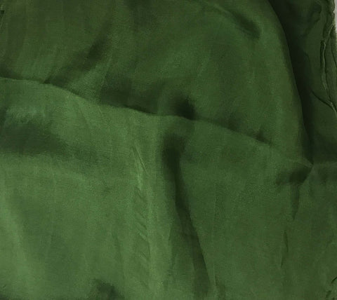 Spinach Green - Hand Dyed Soft Silk Organza