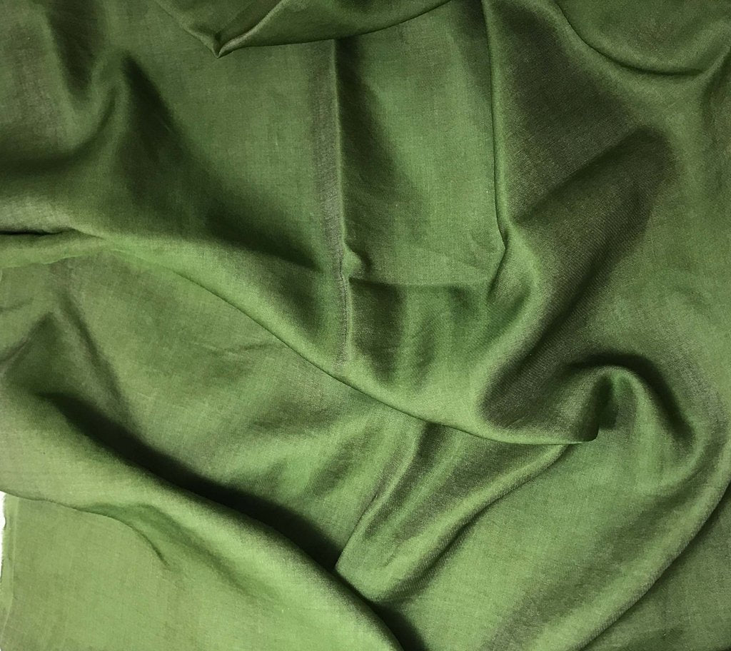 Spinach Green - Hand Dyed Silk/Cotton Sateen