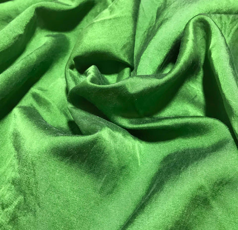 Spinach Green - Hand Dyed Silk/Cotton Satin
