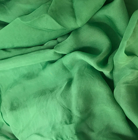 Spring Green - Hand Dyed Soft Silk Organza