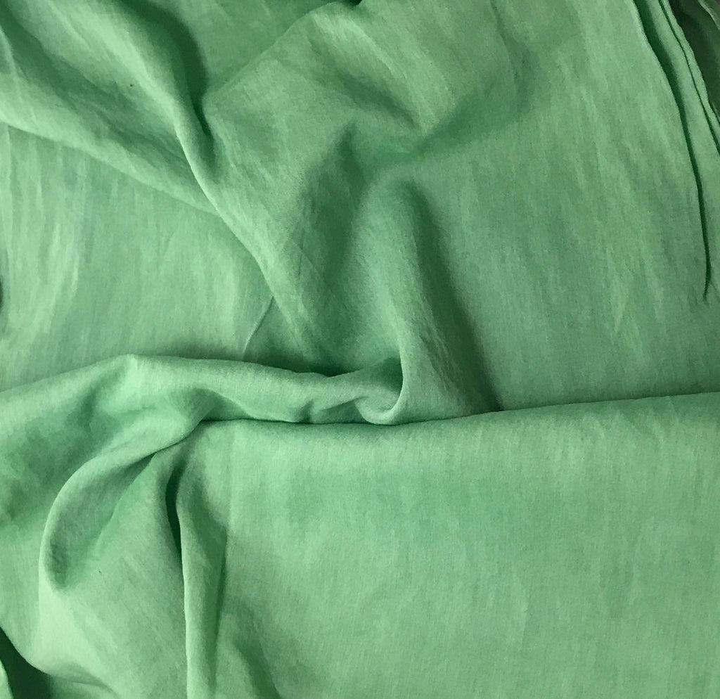 Spring Green - Hand Dyed Silk/Cotton Voile