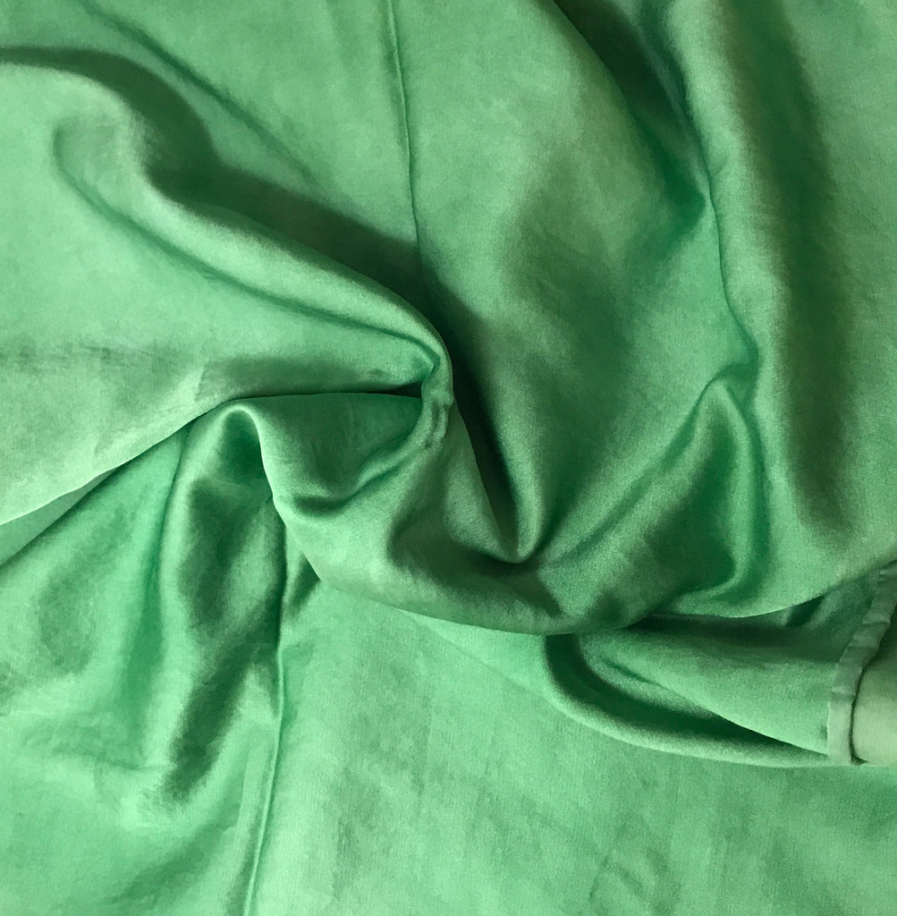 Spring Green - Hand Dyed Silk/Cotton Satin