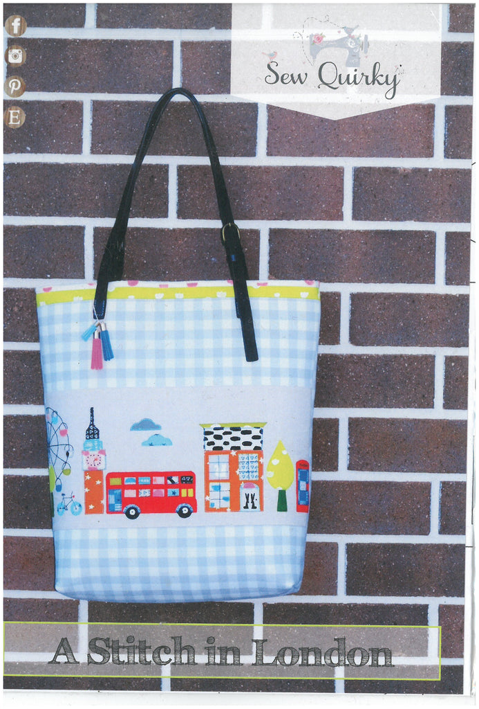 A Stitch in London Tote Bag Pattern - Sew Quirky