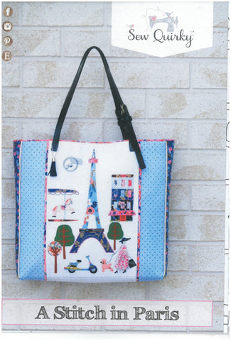 A Stitch in Paris Tote Bag Pattern - Sew Quirky