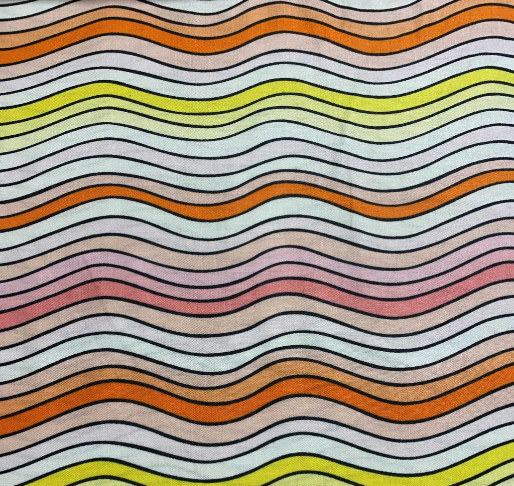 Citrus Waves - Squeeze - by Dana Willard for Figo Fabrics 100% Cotton Fabric