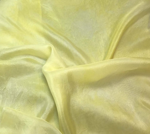 Sunshine Yellow - Hand Dyed Silk Habotai