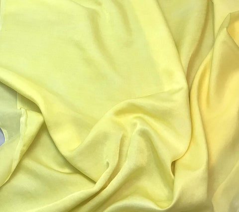 Sunshine Yellow - Hand Dyed Silk/Cotton Sateen