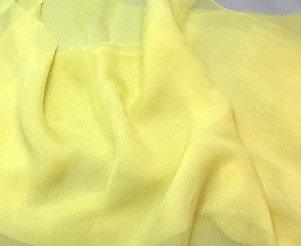 Sunshine Yellow - Hand Dyed Soft Silk Organza