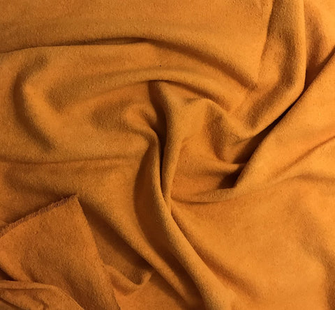 Tangerine Orange - Hand Dyed Silk Noil