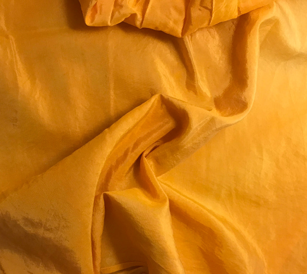 Tangerine Orange - Hand Dyed Silk/ Cotton Habotai