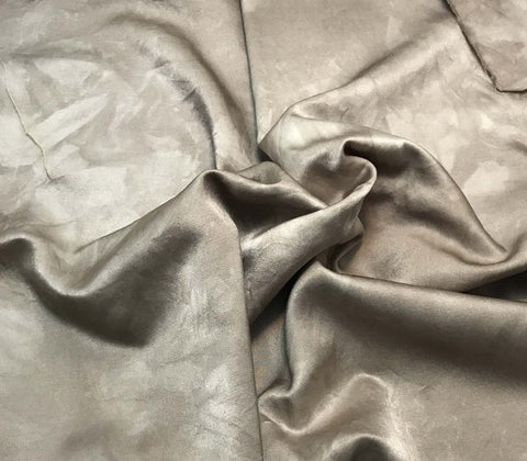 Taupe Gray - Hand Dyed Silk/Cotton Satin