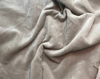Taupe Brown  - Hand Dyed Cotton Velveteen