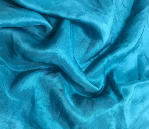 Teal Blue - Hand Dyed Silk Twill