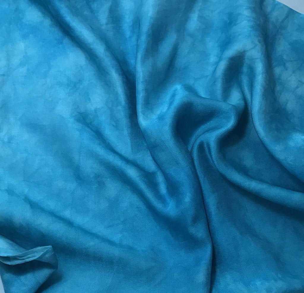 Teal Blue - Hand Dyed Silk/Cotton Sateen
