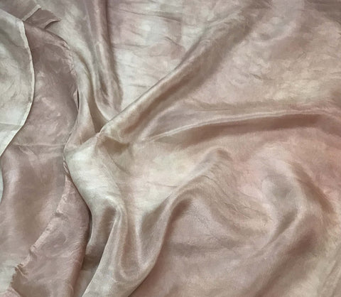 Terra Cotta Brown - Hand Dyed Silk Habotai