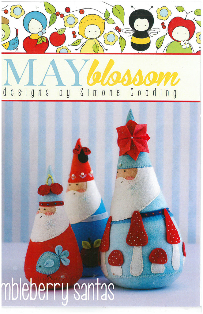 Jumbleberry Santas Sewing Pattern - May Blossom