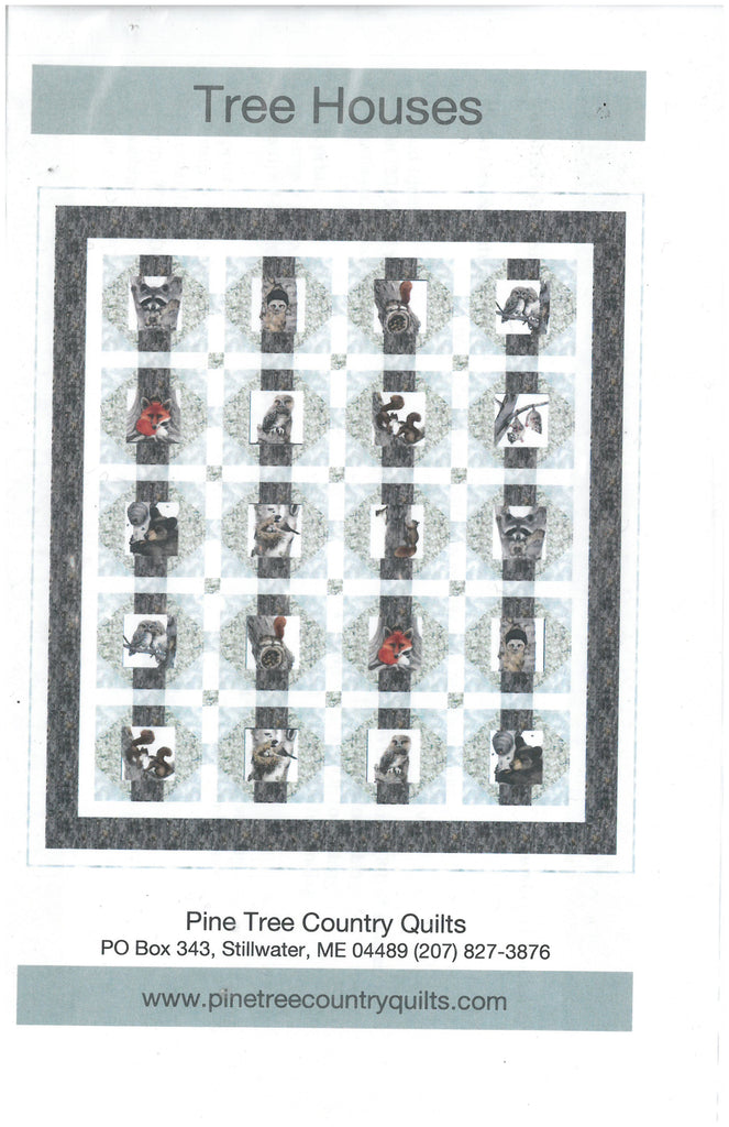 Tree Houses Quilt Pattern-Pine Tree Country Quilts