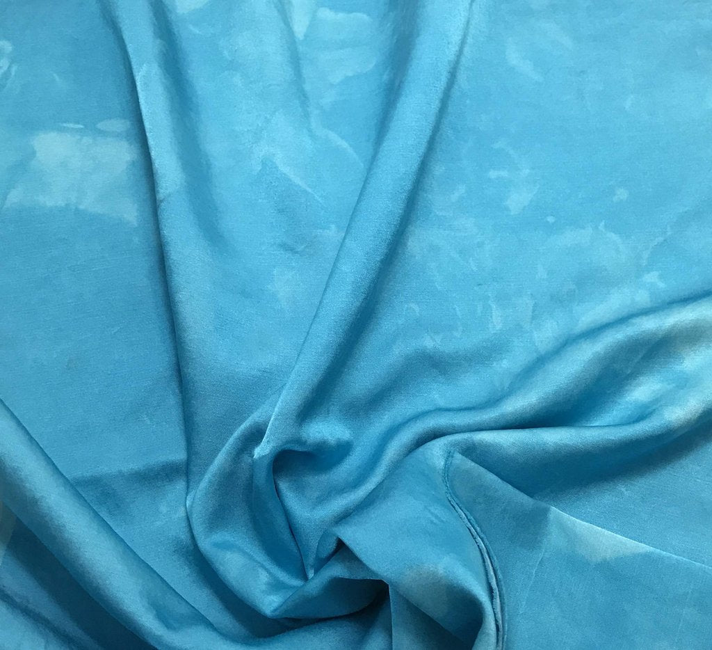 Turquoise Blue - Hand Dyed Silk/Cotton Satin