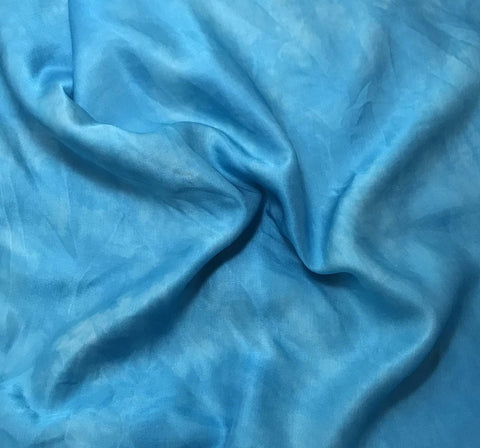 Turquoise Blue - Hand Dyed Silk/Cotton Sateen