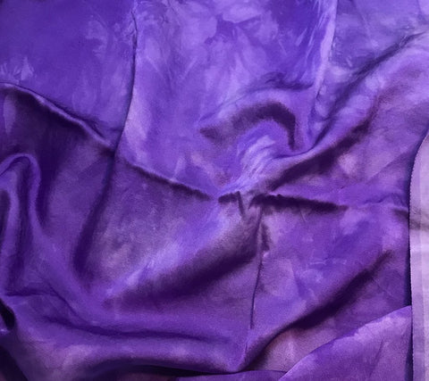 Violet Purple - Hand Dyed Silk/Cotton Satin