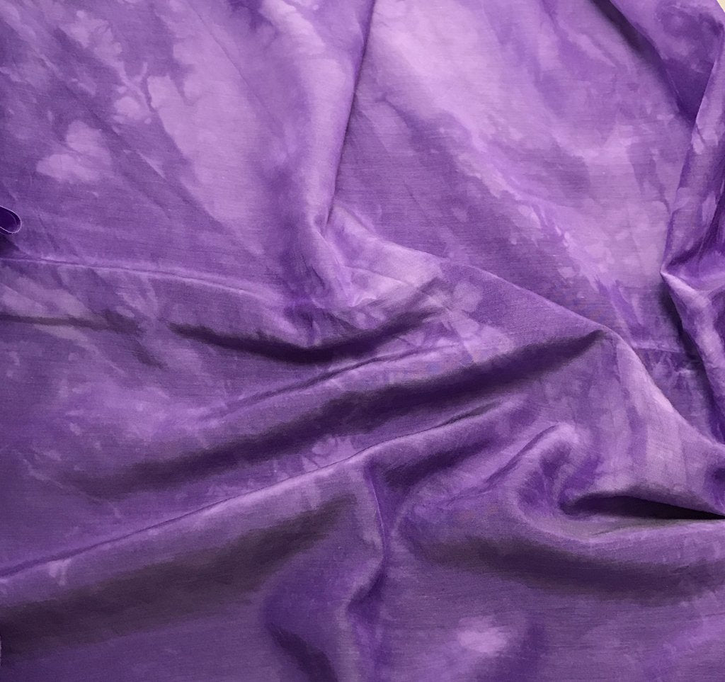 Violet Purple - Hand Dyed Silk/ Cotton Habotai